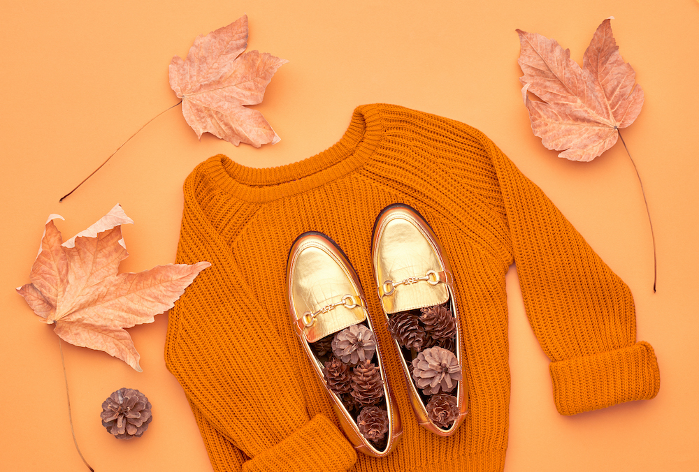 Autumn Fashion Lady Clothes Set. Minimal. Vintage